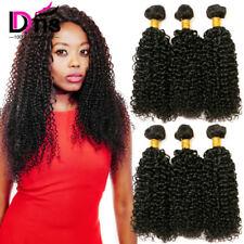 UK-STOCK 100% Human Hair Weave Kinky Curly Hair Bundles Brazilian Virgin Hair 8A