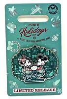 Disney Parks 2019 Teal Blue Mickey Minnie Disneyland Pin Festival of Holidays