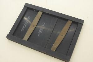 "3.25x5.5"" Contact Frame Wooden Easel Kodak Photo Darkroom Printing VINTAGE E12"
