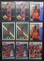 Michael Jordan Pack of 9 NBA Cards - Various Upper Deck, Fleer