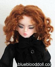 "1/4 bjd 7-8"" doll head copper orange color curly wig MSD Luts iplehouse W-183M"