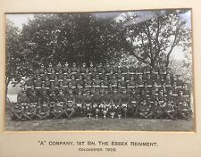 large mounted photograph - A company 1st bn .the essex regiment colchester 1929