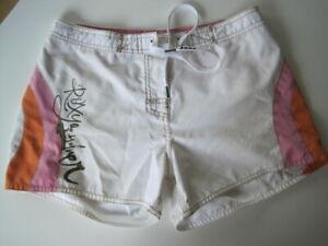 süße Shorts Hotpants Boardshorts Hose von ROXY weiß orange pink Gr. S