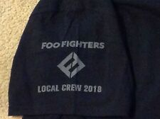 Foo Fighters Local Crew 2018 T Shirt Black with Gray Lettering Xl