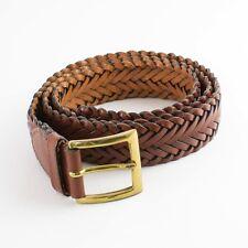 True Vintage para mujer usado con aspecto envejecido de Cuero Marrón Tostado Cintura Correa Grande 32 34 36