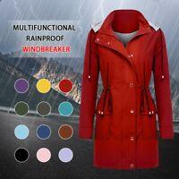 👍Women's Waterproof Raincoat Ladies Outdoor Wind Rain Forest Jacket Coat Rainy