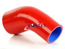 """Silicone 45 Degree Reducer Elbow Joiner Turbo Hose pipe 2.5""""-3"""" 64mm-76mm RED"""