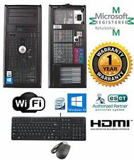 Dell Tower Windows 10 64 Desktop 780 Intel Core 2 Quad 8GB RAM 1TB HDMI