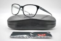 NEW RAY BAN RB 5362 2034 BLACK CLEAR AUTHENTIC EYEGLASSES FRAMES RX 54-17