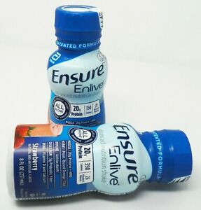 Ensure 64281 Enlive Strawberry Nutritional Shakes EXP 10/1/21 QTY 24-8oz Bottles