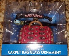 NEW Mary Poppins Carpet Bag Parrot Head Umbrella Glass Ornament Rare Collectible
