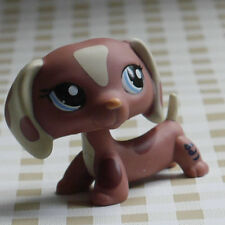 brown Dachshund dog Nice Gift For kids LPS mini Figure toy # LITTLEST PET SHOP