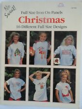 Christmas Iron On 16 Designs Quilting Sweatshirts Pillows Euc Kay McConnaughey
