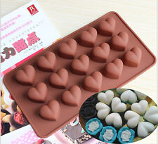 Heart love Silicone valentine'sday Chocolate IceMold Sugercraft Cake Topper Soap