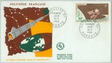 82808 -  FRENCH POLYNESIA - Postal History -  FDC COVER - SPACE  1966