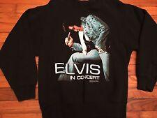 Vintage Elvis Shirt 90s Sweatshirt Elvis sweatshirt Concert shirt Black Boho L