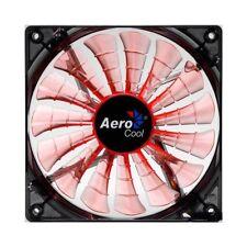 Aerocool Shark 12cm Quad Orange LED Cooling Fan 15 Blade Fluid Dynamic Bearing