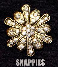 Scarf/Pashmina/Lapel Pin No More Holes! Snappies Crystal Gold Swarovski Magnetic