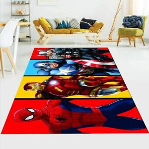 Marvel Superhero Rug Fluffy Rug Living Room Bedroom Floor Mat Non-Slip Carpet
