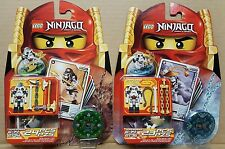 2 LEGO Ninjago Kruncha 2174  Wyplash 2175 Spinner Booster Blister Packs Skeleton