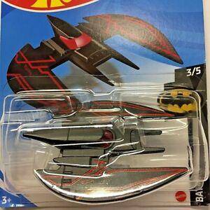NEW Hot Wheels Batplane Black Batman 2021 No 104 GTB57 Long Card Sealed Genuine