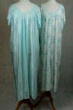 Mesdames floral nightie chemise de nuit à manches longues rose lilas bleu Grandes tailles plus