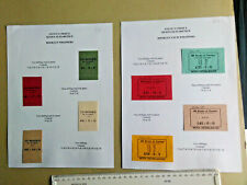 Booklet wrappers and  pack wrappers  £sd period - 2 pages