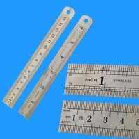 15cm 6 inch Double Side Stainless Steel Straight Rulers Measuring Ruler Tool
