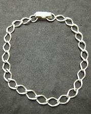 Vintage Silver Charm Bracelet Solid 925 Chain Jewellery