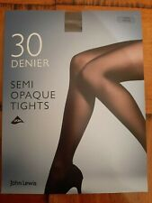 John Lewis Semi Opaque Tights 30 Denier Large Pewter New