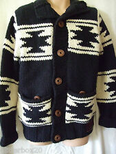 """NEW £145 SUPERDRY TOTEM CHUNKY KNIT FUR LINED CARDIGAN JUMPER LARGE 40"""" CHEST"""