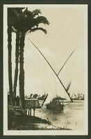 On The Nile, Cairo - Vintage Real Photographic Postcard By Scortzis & Co, Cairo