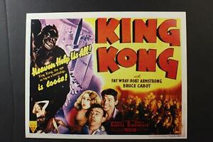 LOT # 26: SIX REPRODUCTION KING KONG HORROR MOVIE LOBBY CARDS~2 sets of 3 Cards~