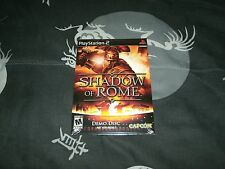 Shadow Of Rome Demo Disc For Sony Playstation 2 Brand New Factory Sealed