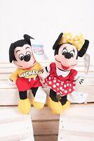 Disney Store Mini Bean Bag Plush Spirit Mickey And Minnie Mouse Set Vintage NWT