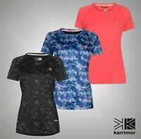 Ladies Karrimor Lightweight X Racer T Shirt Stretch Dropped Hem Top Sizes 8-18