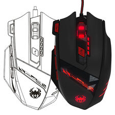 ZELOTES 7-Color 8000DPI 8 Key Memory Chips Maus Optisch LED Gaming Mouse Wired
