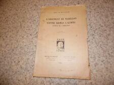 1931.Argument Mabillon contre Thomas Kempis.Imitation Christ.Monnoyeur