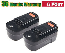 2 x 18V 2.0Ah Drill Battery for BLACK & DECKER Kit A1718,A18,FS188F4,SS18,FS18BX