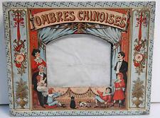 Ancien THEATRE D'OMBRES CHINOISES 7 personnages + 4 planches Dans sa boite 1890