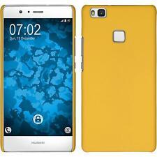 Coque Rigide Huawei P9 Lite - gommée jaune + films de protection