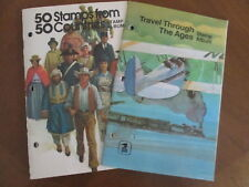 2 USPS STAMP BOOKLETS 50 Stamps from 50 Countries & Travel Through the Ages 1974
