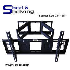 Double Arm Heavy Duty TV Bracket LCD/LED Wall Mount 37 42 46 50 52 55 60 62 65