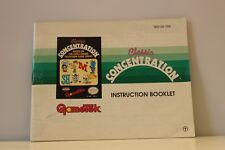 NES Video Game Manual ONLY for Classic Concentration