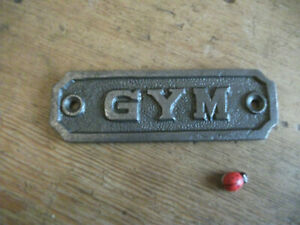 gym - DOOR SIGN ~ CAST IRON