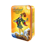 Radiant Rider-Waite Tarot Card Deck and Book in Tin Box Divination Oracle Small