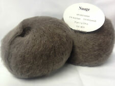lot 10 pelotes laine KID MOHAIR - 9075 taupe  / FRANCE