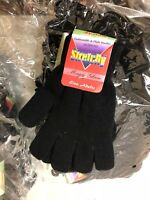 """""""Stretchy"""" Magic Gloves Winter Mens Black Ladies Womens One Size Warm Soft"""