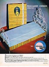 PUBLICITE ADVERTISING  1964   WALLAERT FRERES   DRAPS LINGE DE MAISON