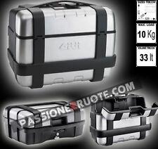 Valise coffre chariot à bagages Givi Trekker 33 + plaque sr5108 Bmw R1200 gs 13